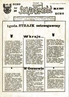 """Echo Solidarność: informator Zarządu Regionalnego NSZZ """"Solidarność"""" w Gorzowie, nr 5 (1.09.1981r.)"""