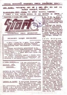 """Start: Zielonogórski serwis informacyjny MKZ NSSZ """"Solidarność"""", nr 12, wtorek (14 lipca 1981 roku)"""