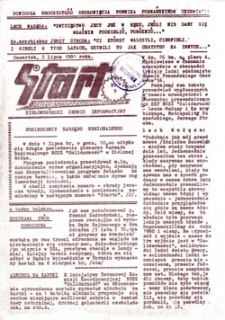 """Start: Zielonogórski serwis informacyjny MKZ NSSZ """"Solidarność"""", nr 18, wtorek (4 sierpnia 1981 roku)"""