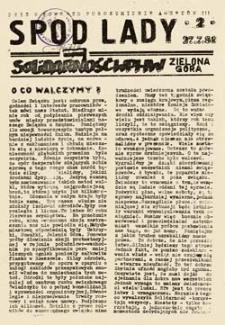 Spod lady: SolidarnośćWPHW Zielona Góra, 2 (27.7.81)