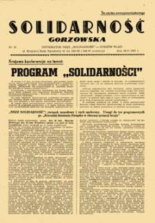 "Solidarność Gorzowska: Informator NSZZ ""Solidarność"", nr 26 (27.04.1981)"