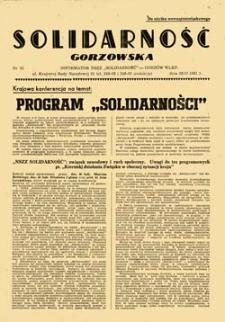 """Solidarność Gorzowska: Informator NSZZ """"Solidarność"""": wydanie specjalne, nr 39a (11.11.1981)"""