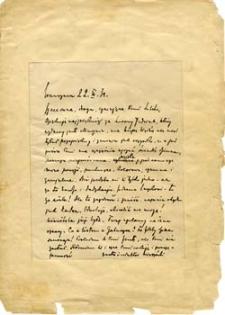 [List Kazimierza Wierzyńskiego do Marii Pawlikowskiej-Jasnorzewskiej]