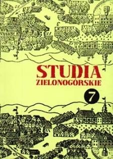 Studia Zielonogórskie: tom VII