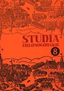 Studia Zielonogórskie: tom VIII