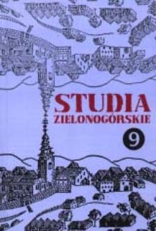 Studia Zielonogórskie: tom IX