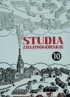 Studia Zielonogórskie: tom X