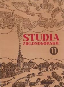 Studia Zielonogórskie: tom XI