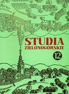 Studia Zielonogórskie: tom XII