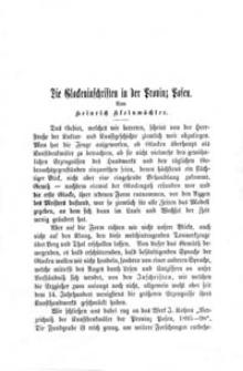 Die Glockeninschriften in der Provinz Posen