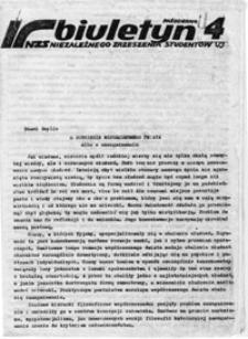 Biuletyn Niezależnego Zrzeszenia Studentów UJ, nr 4