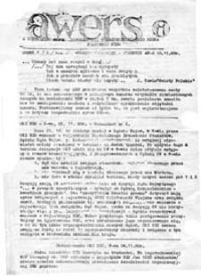 Awers: niezależny serwis informacyjny międzyuczelnianego biura prasowego NZS, numer 2, wydanie specjalne, P-ń 10.11.80r.