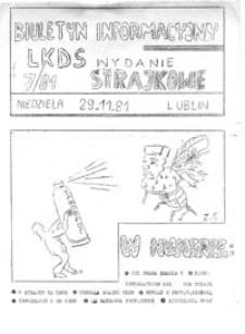 Biuletyn informacyjny LKDS (Lubelskiego Klubu Dziennikarzy Studenckich), nr 7 (niedziela 29.11.1981)