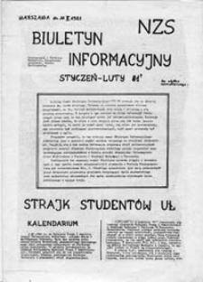 Biuletyn Informacyjny NZS (Uniwerystet Warszawski), 14.02.1981