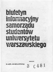 Biuletyn Informacyjny Samorządu Studentów Uniwersytetu Warszawskiego, br. nr