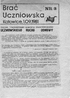 Brać Uczniowska, nr 3 (1.09.1981)