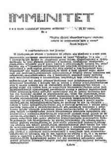 Immunitet: niezależny biuletyn studencki UMK Toruń, wydanie specjalne (11 XI 1980)