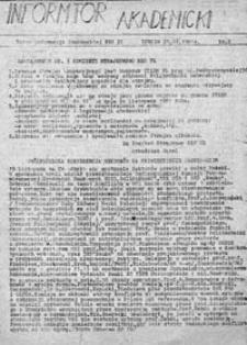 Informator Akademicki: Biuro Informacji Studenckiej NZS PL, nr 2 (21.11.1981 r.)