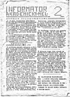 Informator Akademicki MEL [Wydział Mechaniczny Energetyki i Lotnictwa Politechniki Warszawskiej], nr 2