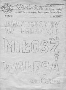 KUL-ier: zeszyt Niezależnego Zrzeszenia Studentów: dodatek nadzwyczajny (12 VI 1981 r.)
