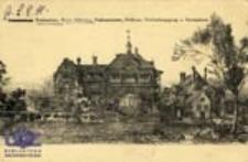 Trzebiechów / Trebschen; Sanatorium Trebschen, Kreis Züllichau, Patientenhaus, Südfront, Verbindungsgang u. Doctorhaus