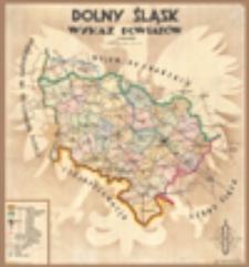 Dolny Śląsk: wykaz powiatów [mapa]