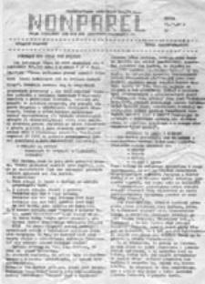 Nonparel: organ codzienny lub nie NZS Instytutu Poligrafii PW (21.11.1981)