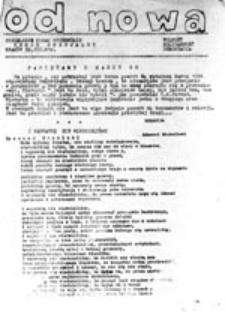 Od nowa: niezależne pismo studenckie NZS AGH, numer specjalny (Kraków 30.III.81)