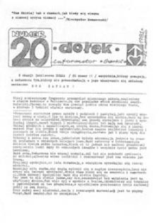 Dołek: informator: Górki, nr 20 (15-22 marzec 1981 r.)