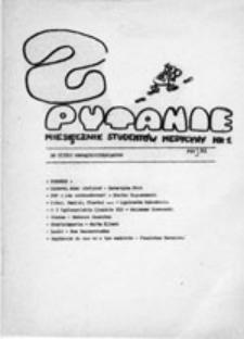 Pytanie: miesięcznik studentów medycyny, nr 1 (maj 1981)