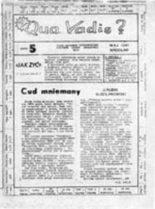 Quo vadis?: pismo członków Uczniowskiego Komitetu Odnowy Społecznej UKOS, nr 5 (maj 1981)