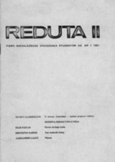 Reduta II: pismo Niezależnego Zrzeszenia Studentów UG, nr 1