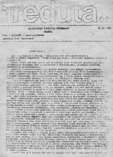 Reduta: niezależny biuletyn studencki, nr 1 (10 IX 1980)