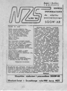Serwis Informacyjny NZS SGGW - AR (kwiecień 1981)