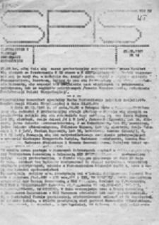 SPIS (Systematyczny Przegląd Informacji Studenckich) NZS UJ, nr 13 (18.05.1981)