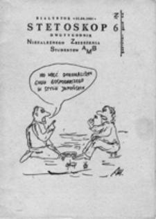 Stetoskop: dwutygodnik Niezależnego Zrzeszenia Studentów AMB, nr 6 (01.04.1981)