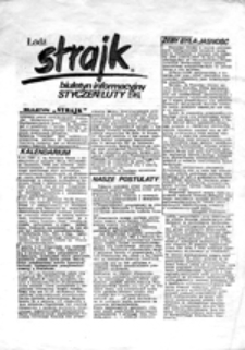 Strajk: biuletyn informacyjny (styczeń-luty 1981)