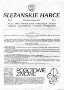 Ślężańskie harce: pismo kręgu instruktorów harcerskich imienia Andrzeja Małkowskiego Chorągwi Wrocławskiej, nr 3 (listopad 1981)