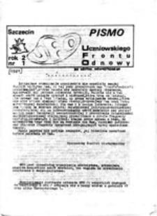 UFO: pismo Uczniowskiego Frontu Odnowy, nr 1 (1981)