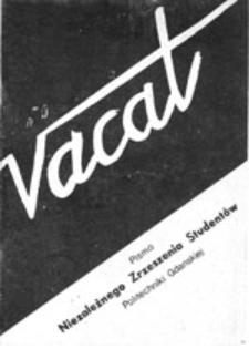 Vacat: biuletyn Niezależnego Zrzeszenia Studentów Politechniki Gdańskiej