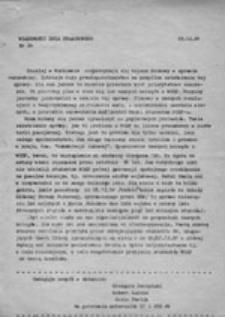 Wiadomości dnia strajkowego: komunikat nr 18 (30.11.81 r.)