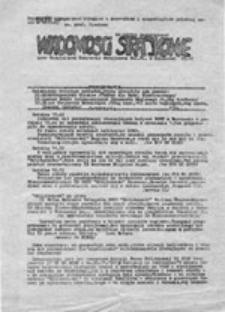 Wiadomości strajkowe: przy Uczelnianym Komitecie Strajkowym Pol. Śl. w Gliwicach (30.11.1981)