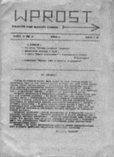 Wprost: niezależne pismo młodzieży licealnej, nr 2 (15 IV 81)