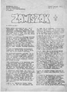 Zawiszak: Niezależne Pismo Drużyn Zawiszackich L.O. im. A.J. Czartoryskiego w Puławach, nr 2 (styczeń 1981)