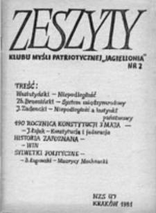 """Zeszyty Klubu Myśli Patriotycznej """"Jagiellonia"""", nr 2"""