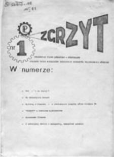 Zgrzyt: studenckie pismo społeczno-kulturalne wydawane przez Niezależne Zrzeszenie Studentów Politechniki Łódzkiej (18 I 81)