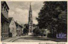 Żagań / Sagan; Friedrich Wilhelmstr. mit Gnadenkirche