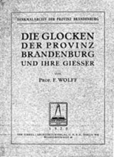 Die Glocken der Provinz Brandenburg und ihre Gießer