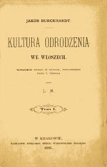 Kultura Odrodzenia we Włoszech: tom II