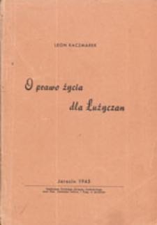 O prawo życia dla Łużyczan